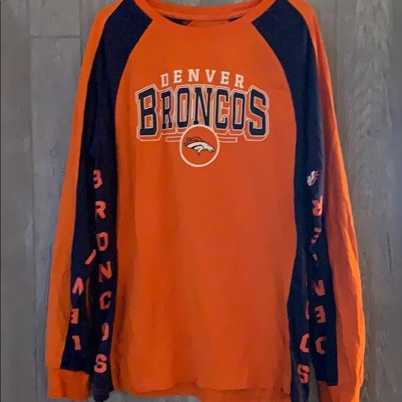 Denver Broncos Men Long Sleeve Shirt